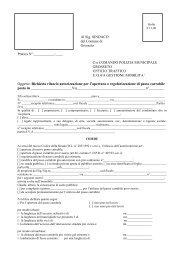 Richiesta rilascio autorizzazione per l'apertura o regolarizzazione di ...
