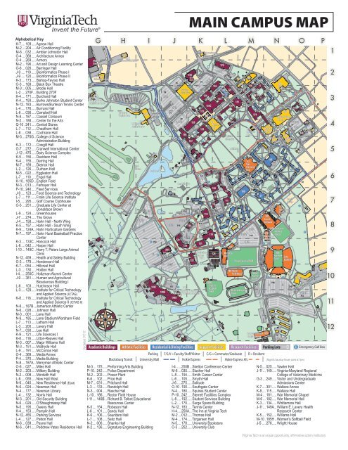 MAIN CAMPUS MAP   Virginia Tech