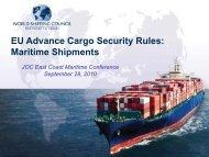 EU Advance Cargo Security Rules: Maritime Shipments
