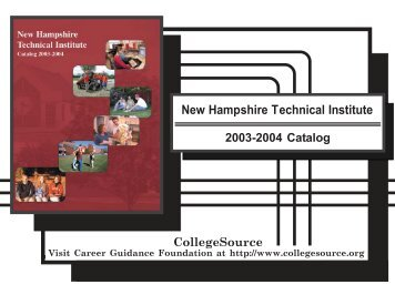 Catalog 03-04 - NHTI - Concord's Community College