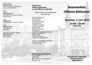 Sommerfest: Offenes Bethanien - Piffl Medien   Filmverleih