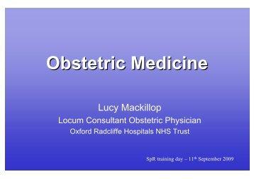 Obstetric Medicine - ESIM 2009