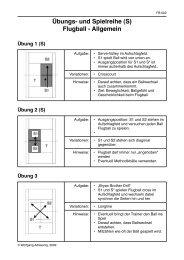 Übungs- und Spielreihe (S) Flugball - Allgemein - Tennis beim FCG