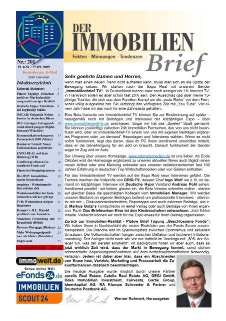 Ausgabe Nr. 201 - Sachwertefonds beinhalten Inflationsschutz