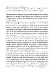 Kleines Porträt eines grossen Bundesrats (Rede ... - Gerhard Pfister