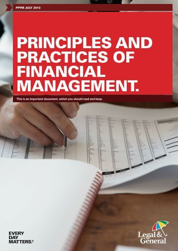 Principles and Practices of Financial Management - Legal & General