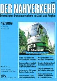 der nahverkehr 12/2009 - f/p design gmbh