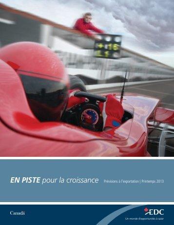 Prévisions à l'exportation - Printemps 2013 - Sommaire ... - EDC