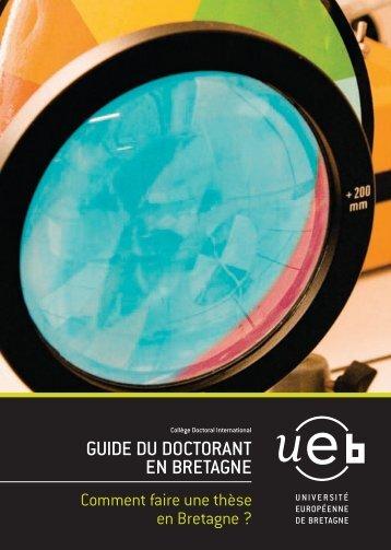 GUIDE DU DOCTORANT EN BRETAGNE - Université de Rennes 1