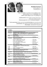 CV en Français - Gilles Tschudi