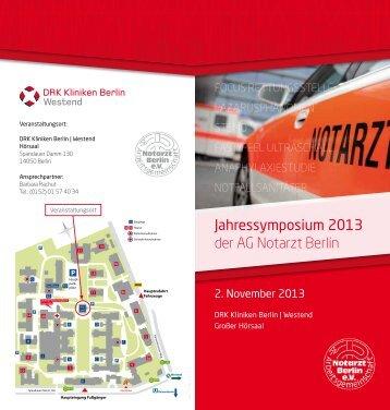 fokus rettungsstelle - Arbeitsgemeinschaft Notarzt Berlin eV