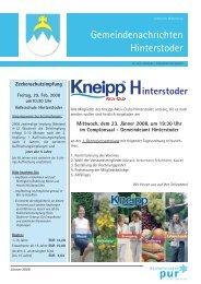 Ausgabe Jänner 2008 - Hinterstoder
