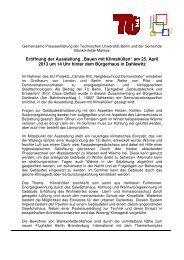 """Eröffnung der Ausstellung """"Bauen mit Klimahüllen"""" am 25. April ..."""