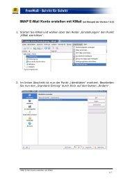 IMAP E-Mail Konto erstellen mit KMail - Web