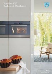 Preisliste 2012 Küche und Waschraum - V-ZUG Ltd