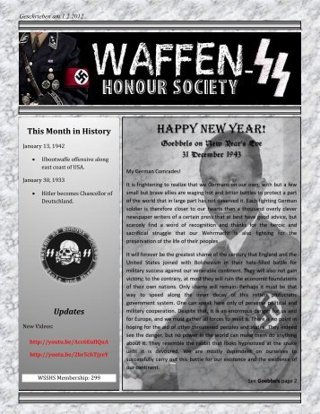 German New Year's Traditions - Waffen SS Honour Society