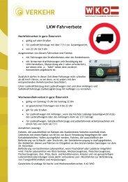 LKW-Fahrverbote - ATL Transport & Logistics