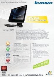 Costs less. entertains more. Costs less. entertains ... - Shop - Lenovo