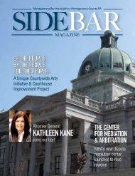 MBA Sidebar Spring 2013 - Montgomery Bar Association