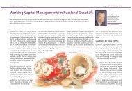 Working Capital Management im Russland-Geschäft - Deutsche Bank