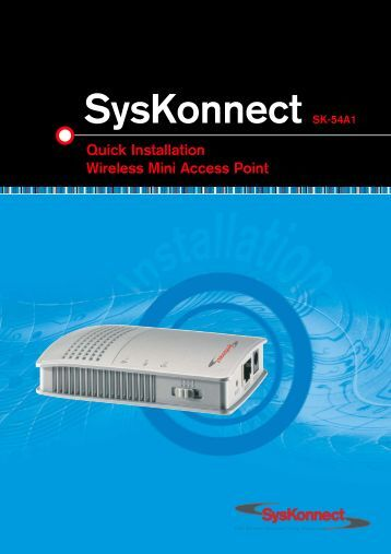 SysKonnect SK-54A1 802.11g Wireless Mini Access Point