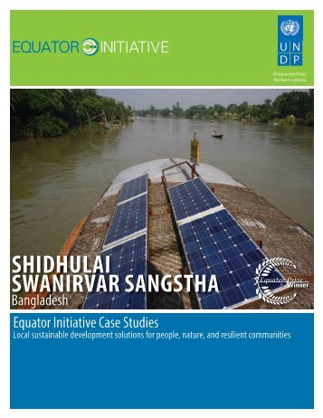 Shidhulai Swanirvar Sangstha, Bangladesh - Equator Initiative