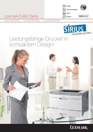 Leistungsfähige Drucker in kompaktem Design! - Sirius GmbH