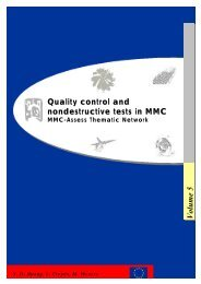 Quality control and nondestructive tests in MMC Volume 5