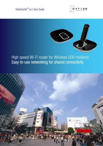High speed Wi-Fi router for Wireless USB modems ... - Nova Media