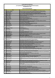 list of confirmed participants
