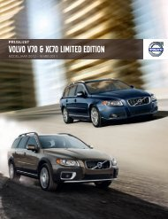 VOLVO V70 & XC70 LIMITED EDITION - EU-Import