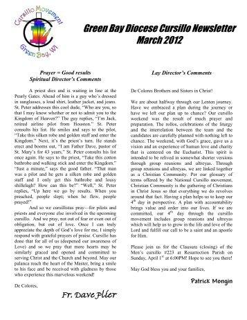 March 29 – April 1, 2012 Resurrection Parish – Green Bay, WI