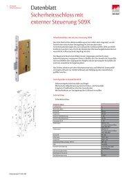 Datenblatt Sicherheitsschloss mit externer Steuerung 509X