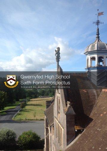 Sixth Form Prospectus 2013 - Gwernyfed High School