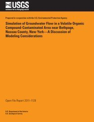 Simulation of Groundwater Flow in a Volatile Organic ... - USGS