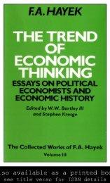 The Trend of Economic Thinking; Essays on Political Economists ...