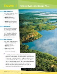 Chapter 1 Nutrient Cycles and Energy Flow - McGraw-Hill Ryerson