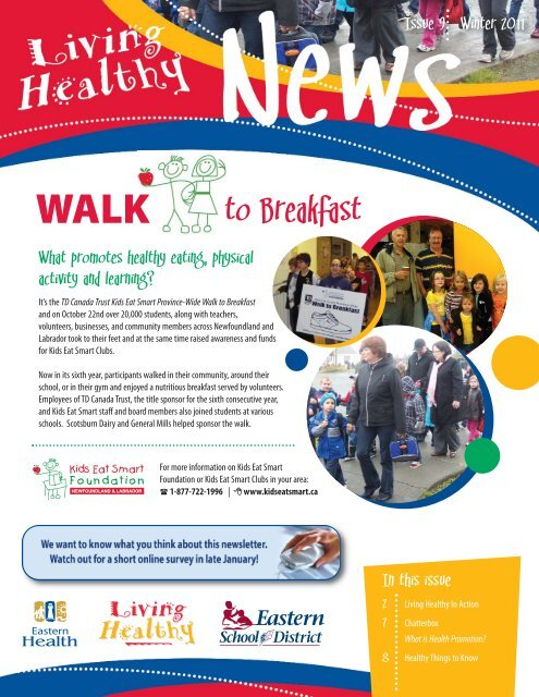 Living Healthy Newsletter [Winter 2011]:Layout 1.qxd - Eastern Health