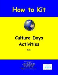 How to Kit - Culture Days Activities 2011 - NWT Literacy Council