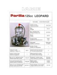 IAME/Parilla 125cc Leopard TaG - Eastsidekartcentre.com.au