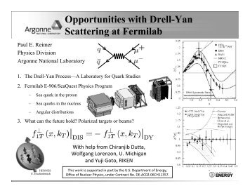 Opportunities with Drell-Yan Scattering at Fermilab - Phenix
