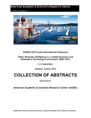 collection of abstracts - American Academic & Scholarly Research ...