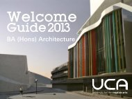 Guide: BA (Hons) Architecture - UCA Community - University for the ...