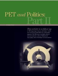 PET and Politics: Part II (PDF*) - Mallinckrodt Institute of Radiology ...