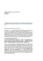 Antrag auf Zulassung zum Dipolstudium der ... - ÖH Medizin Wien