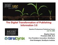 The Digital Transformation of Publishing - Stephen's Lighthouse