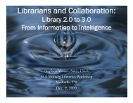 Librarians and Collaboration: - Stephen's Lighthouse