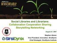Social Libraries and Librarians: Collaboration Cooperation Sharing ...