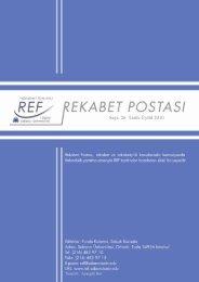 Rekabet Postası'nın 26. Sayısı Çıktı - REF - Sabancı Üniversitesi