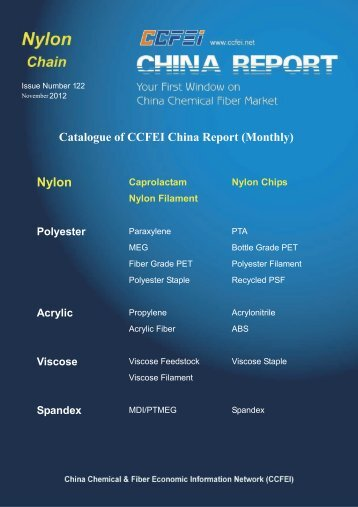 Catalogue of CCFEI China Report (Monthly)